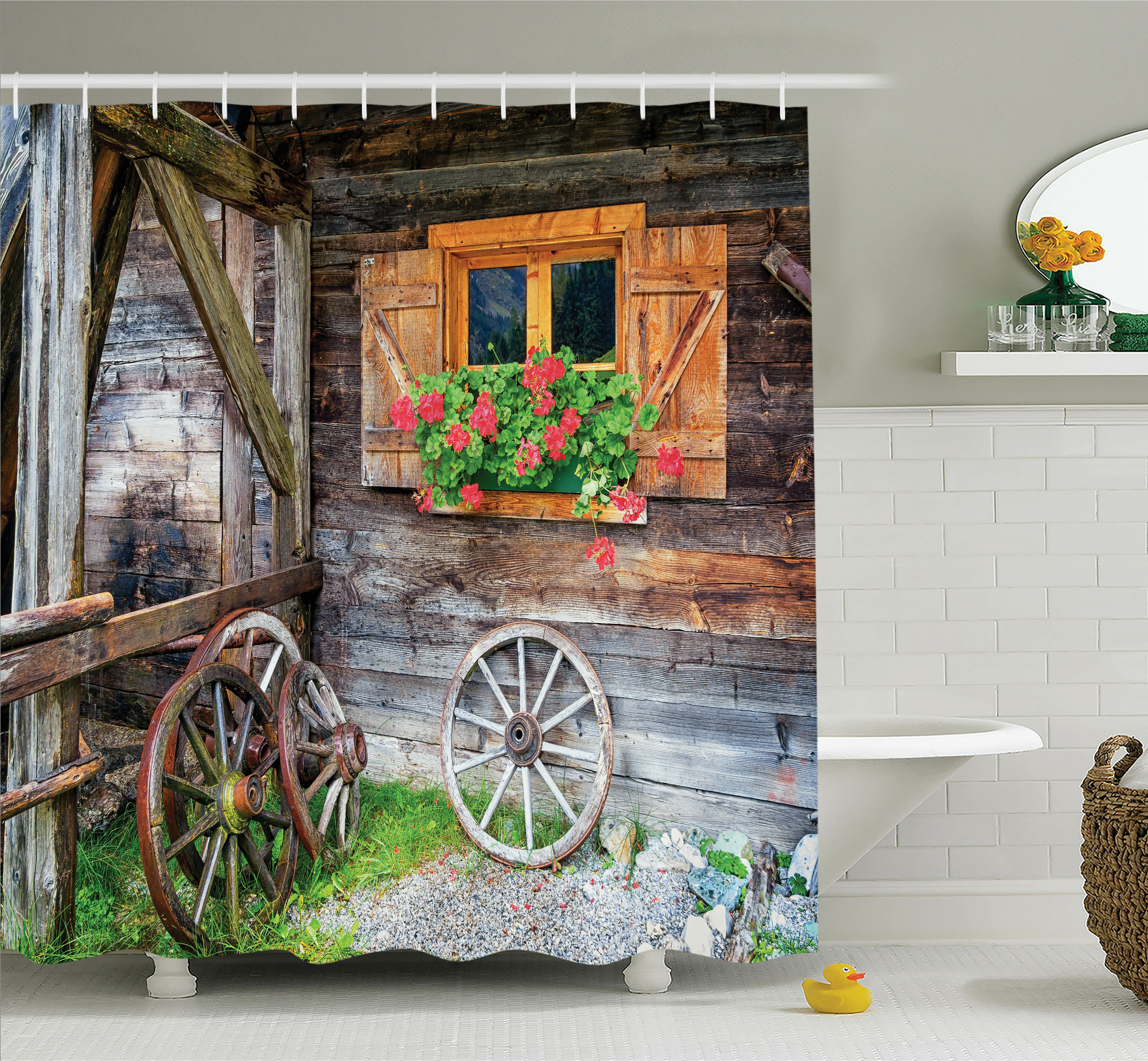 Ambesonne Farm House Countryside Shower Curtain Set Reviews