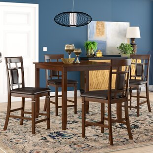 Leger 5 Piece Counter Height Dining Set