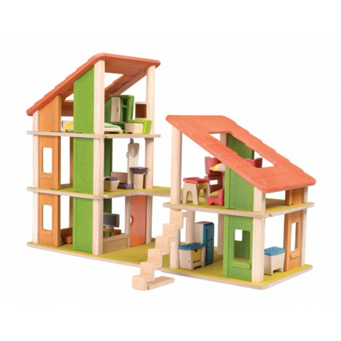 Plan Toys Chalet Dollhouse With Furniture Reviews Wayfair