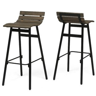 Bar Chairs Trend Mark Solid Wood Bar Chair Leisure Creative High Stool Personality Bar Chair Modern Simple Backrest High Stool.