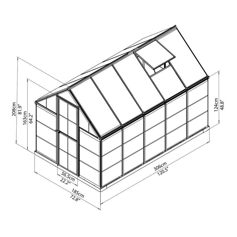 Palram Hybrid 6 Ft W X 10 Ft D Greenhouse Reviews