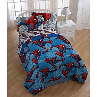 Spider Man 4 Piece Twin Comforter Set