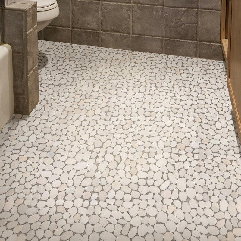Random Size Natural Stone Pebble Tile