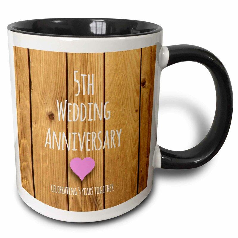 5th Wedding Anniversary Gift.5th Wedding Anniversary Gift Coffee Mug