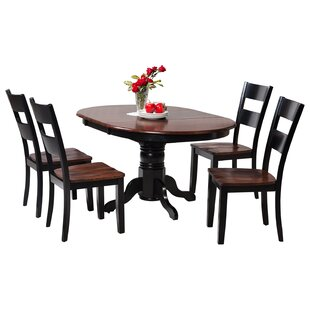 Maryrose 5 Piece Wood Dining Set with Butterfly Leaf Table
