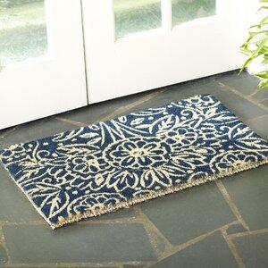 Floral Coir Welcome Doormat