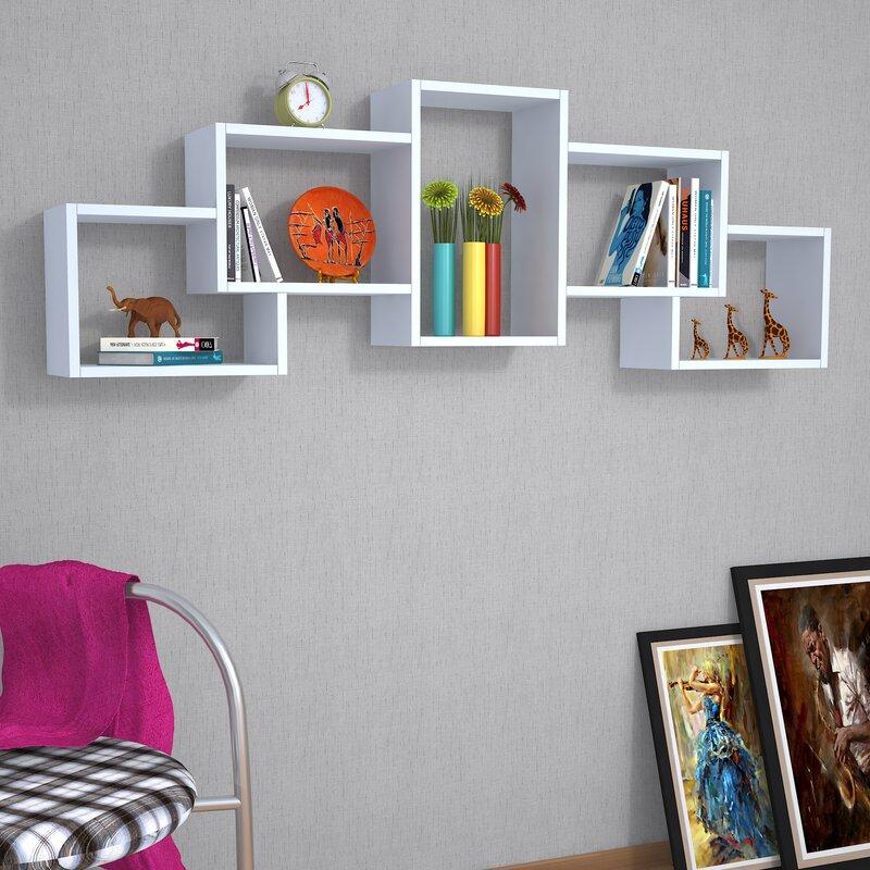 hazelwood home schweberegal cube bewertungen. Black Bedroom Furniture Sets. Home Design Ideas