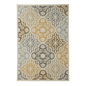 Zaliki Cream Indoor/Outdoor Area Rug