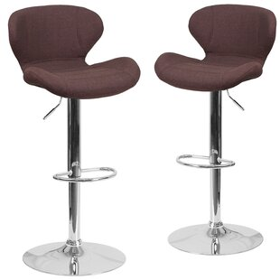 Nuttall Adjustable Height Swivel Bar Stool (Set of 2)
