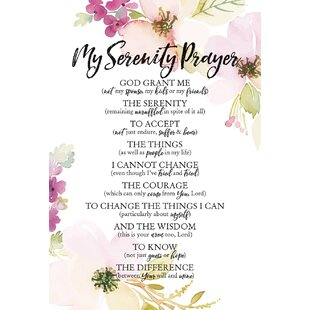 8c843fe4bb9 Woodland Grace My Serenity Prayer Textual Art on Wood