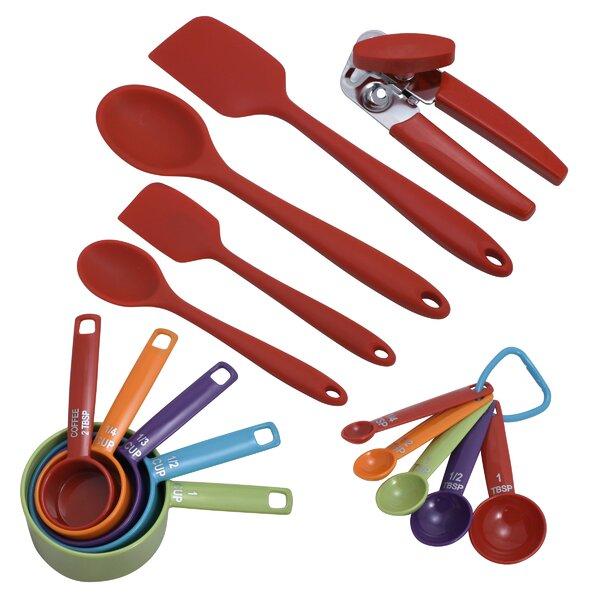 farberware 16-piece colorworks kitchen utensil set & reviews | wayfair