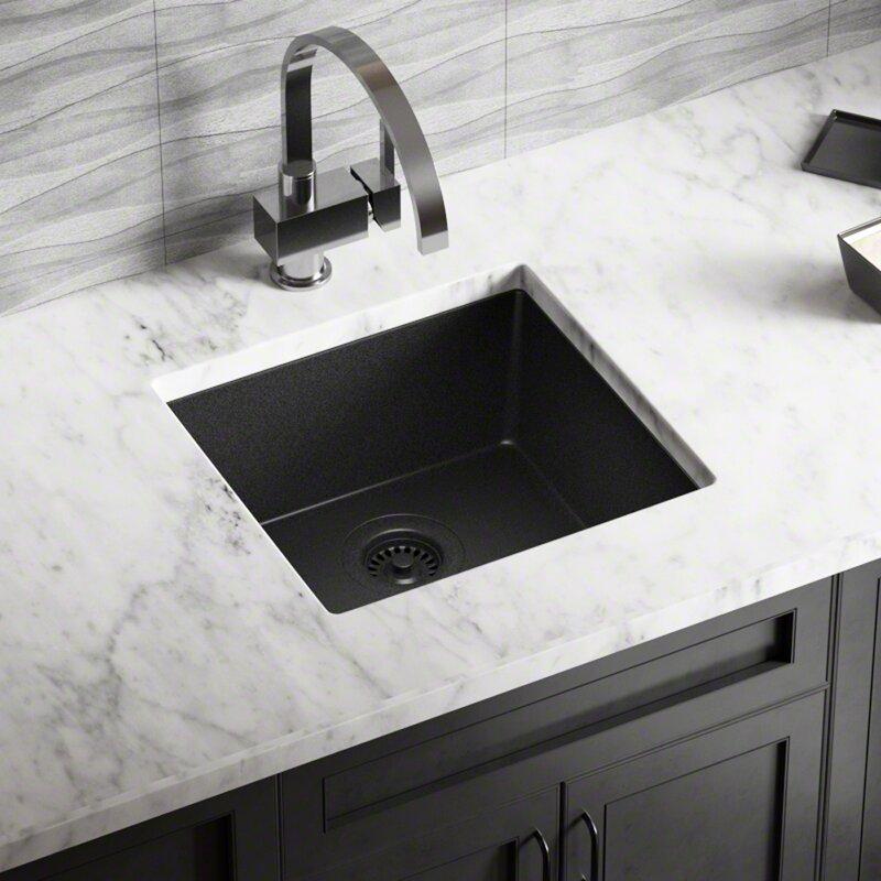 Granite Composite 18 L X 17 W Undermount Kitchen Sink With Strainer