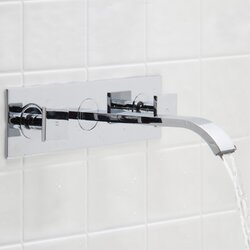Bathroom Faucet From Wall vigo titus wall mount bathroom faucet & reviews | wayfair