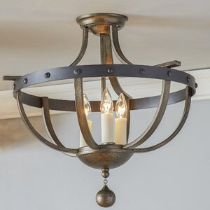 Betty-Jo 3-Light Semi Flush Mount