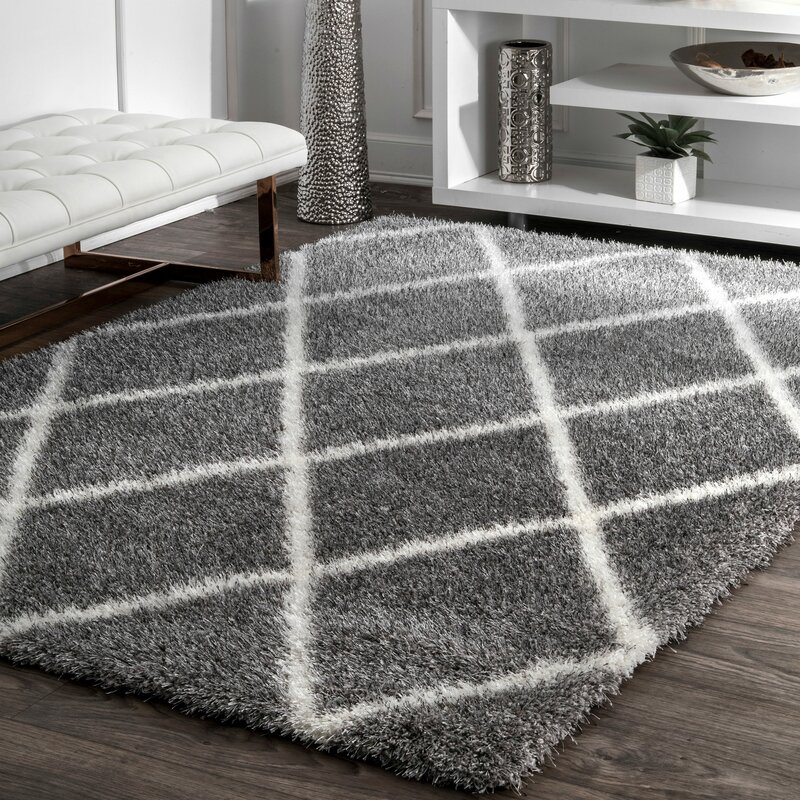 mercury row bronson trellis ash area rug reviews wayfair