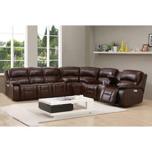 Westminster Ii Leather Reversible Reclining Sectional by HYDELINE BY AMAX
