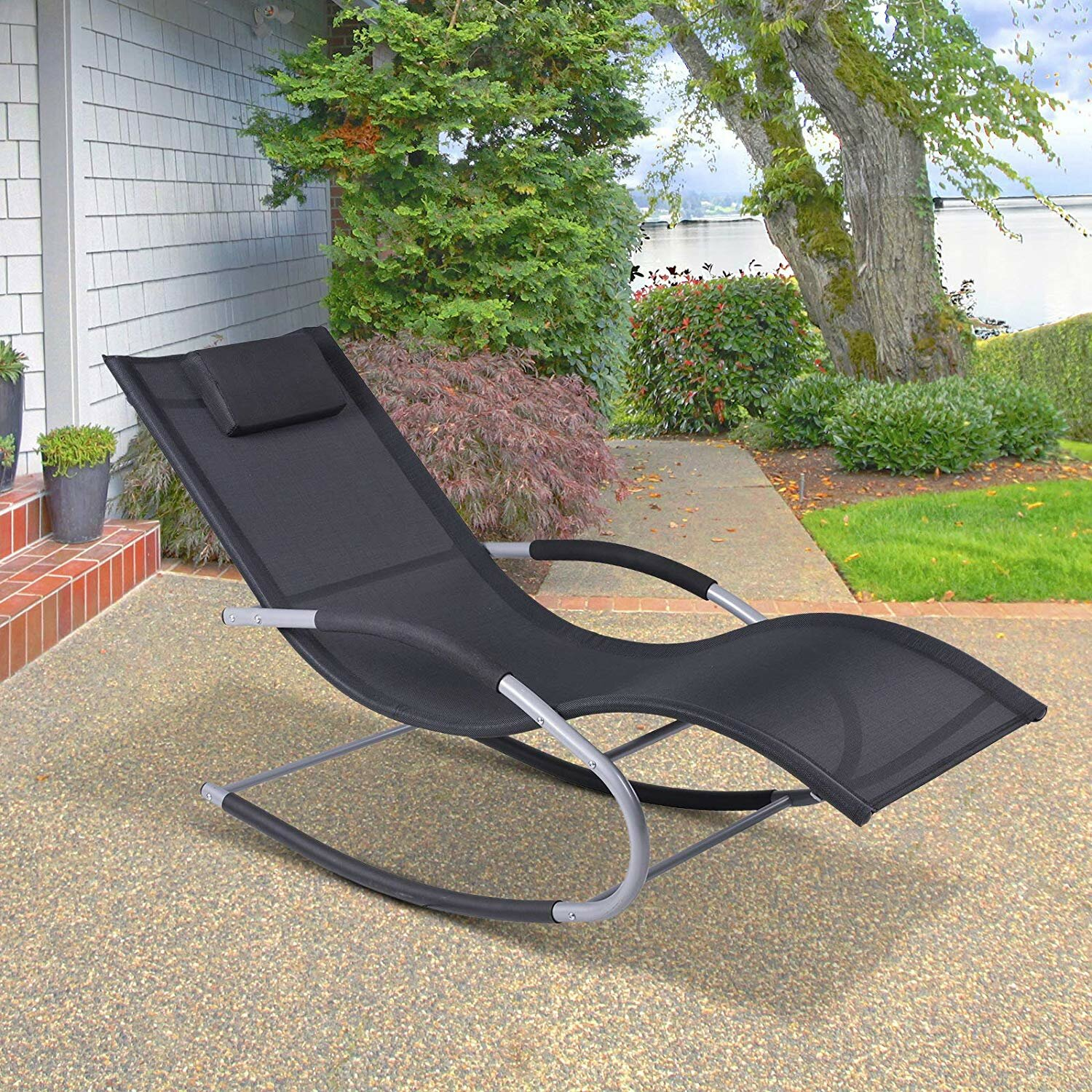 Gravity Rocker Shane Outdoor Zero Chair Poolside Wave Reclining rdxCBoe