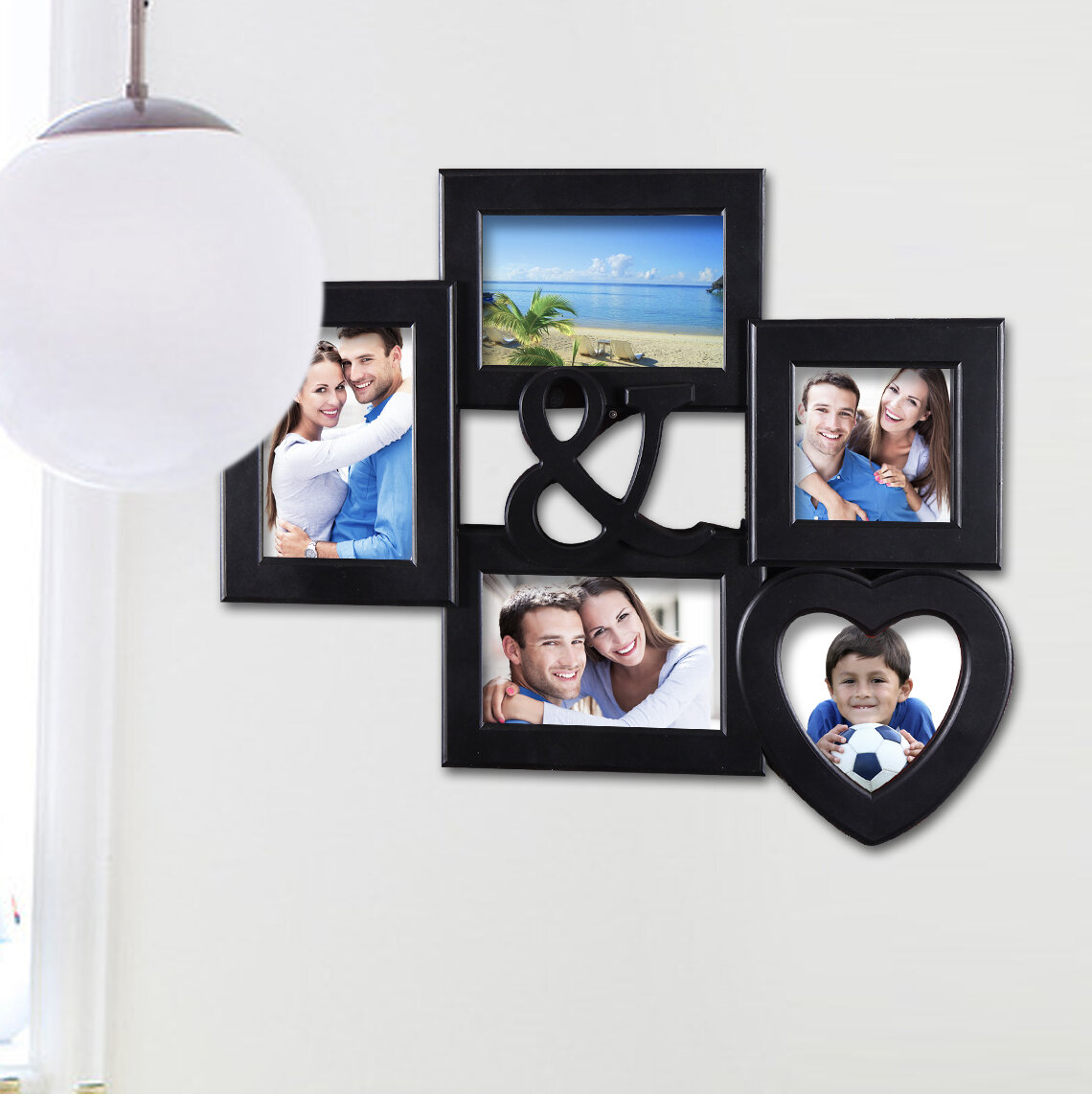 5 Opening Decorative Wall Hanging Collage Ampersand Picture Frame