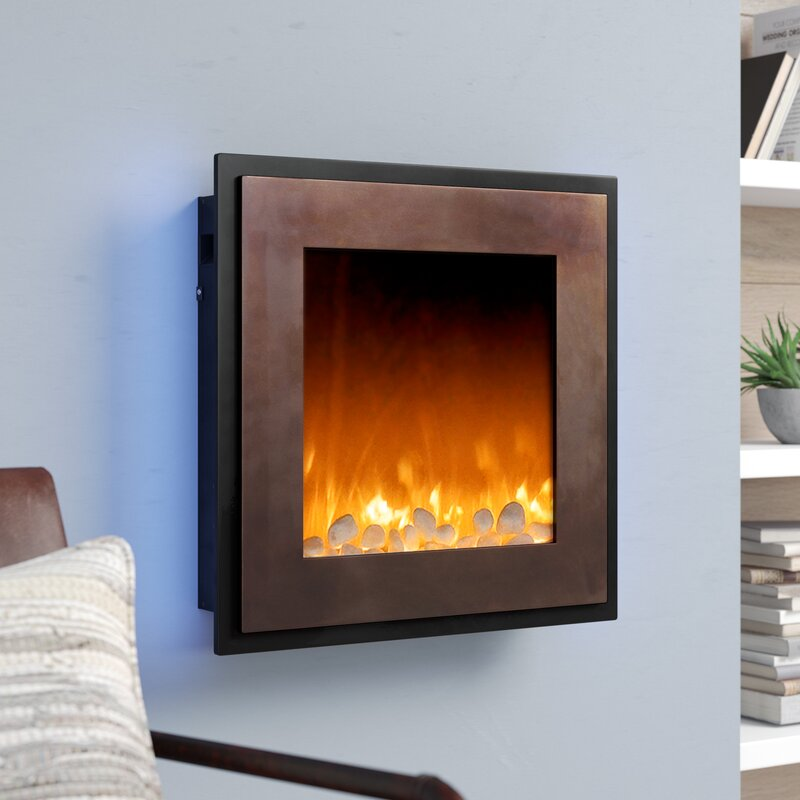 17 Stories Crites Wall Mounted Electric Fireplace Reviews Wayfair