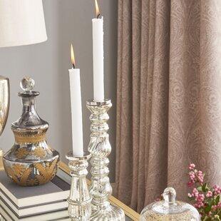 Mercury Glass Candlestick Holder