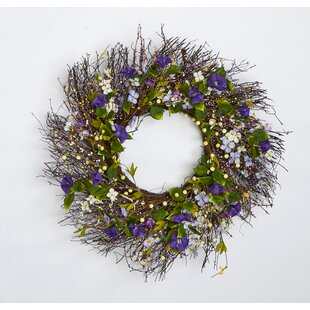 twig and berry wild flower 24 wreath - Easter Wreaths
