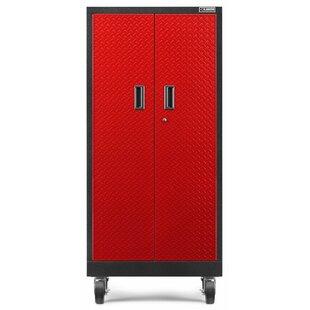 Premier Series 66  H x 30  W x 18  D Storage Cabinet  sc 1 st  Wayfair & Tall Storage Cabinet On Wheels | Wayfair