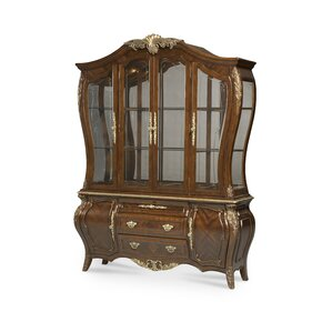 Imperial Court Lighted China Cabinet by Michael Amini (AICO)