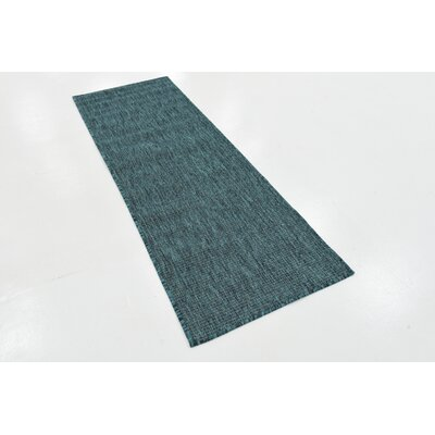 New Haven Teal  Area Rug Andover Mills Rug Size: Runner 2' x 6'