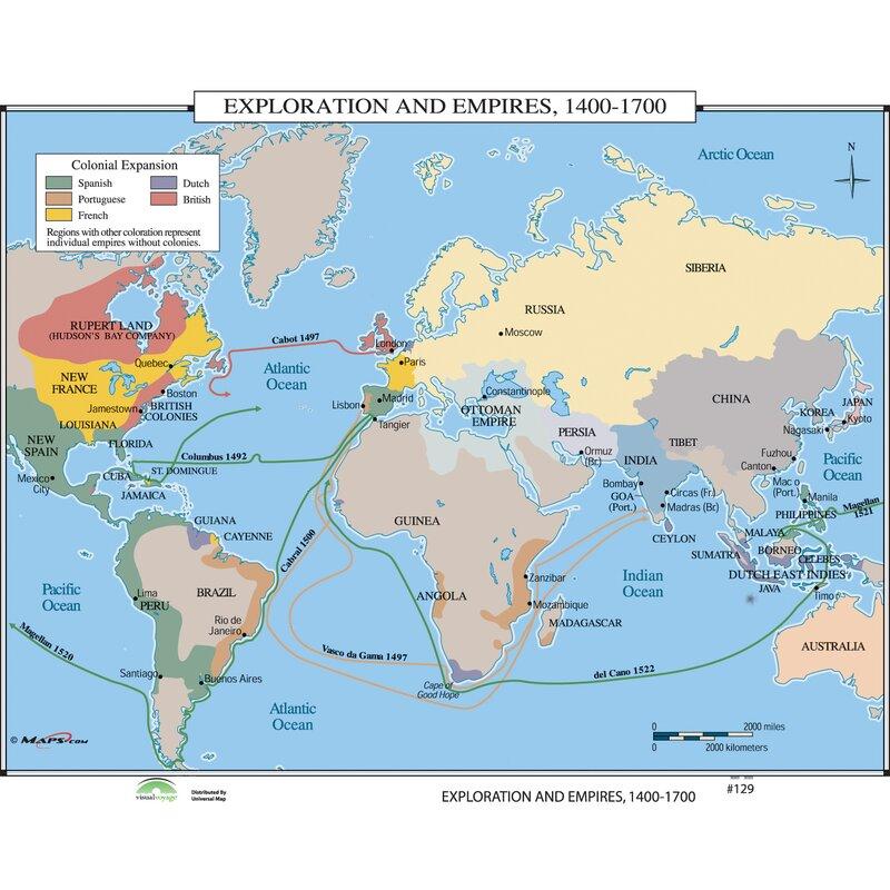 Map Of Australia 1700.Universal Map World History Wall Maps Exploration Empires 1400