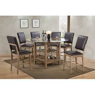 Deonte 7 Piece Pub Table Set Cheap