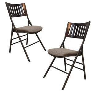 Tubular Steel Folding Chair (Set of 2)