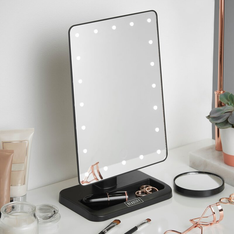 Beautify Led Lighted Vanity Makeup Mirror Amp Reviews Wayfair