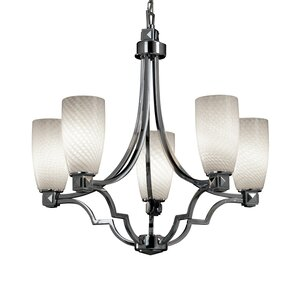 Luzerne 5-Light Shaded Chandelier