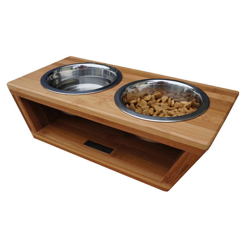 double adjustable elevated gear full bowl feeder dog diner care ace three