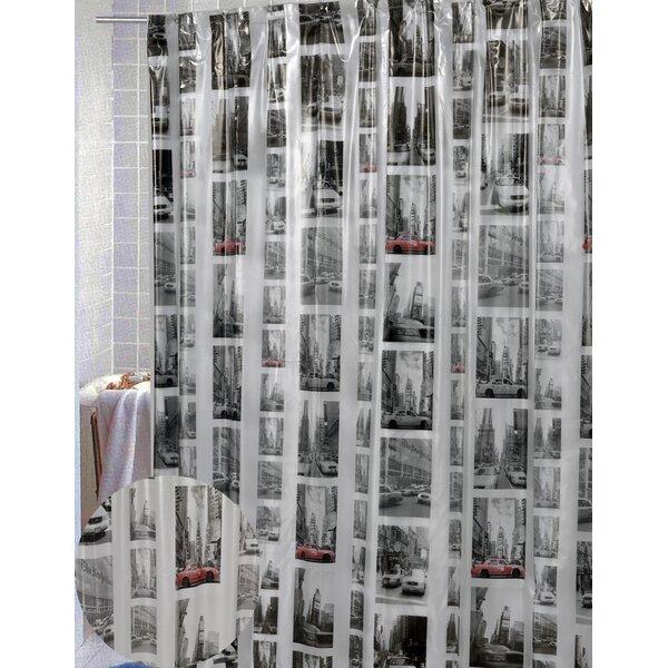 Zipcode Design Maura Vinyl New York Shower Curtain & Reviews   Wayfair