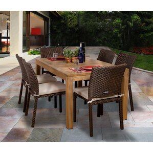 Elsmere 7 Piece Outdoor Dining Set With Cushions Part 96