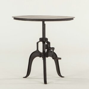 Artezia Adjustable Metal End Table by World Interiors
