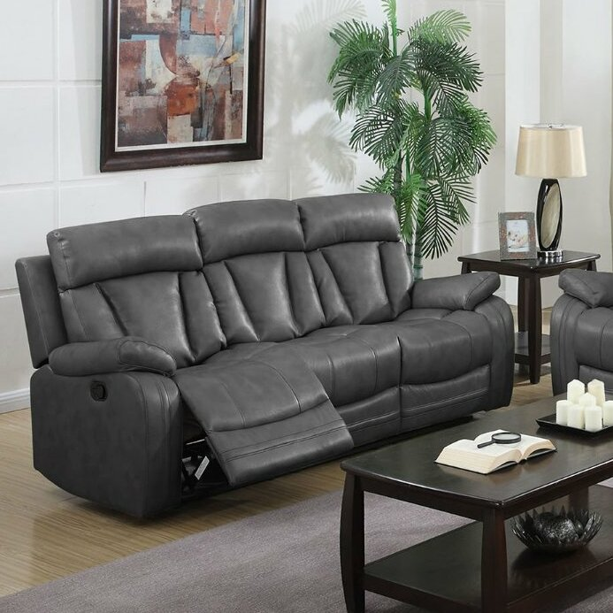 Benjamin Motion Leather Reclining Sofa & NathanielHome Benjamin Motion Leather Reclining Sofa u0026 Reviews ... islam-shia.org