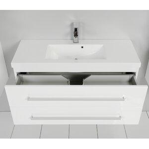 100 cm wandbefestigter Waschbeckenunterschrank Alatna von Belfry Bathroom