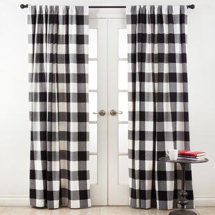 black buffalo plaid curtains wayfair