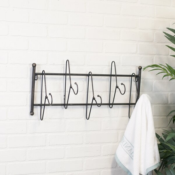 American Mercantile Metal 40 Hook Wall Mounted Coat Rack Wayfair Unique Metal Coat Rack Wall Mounted