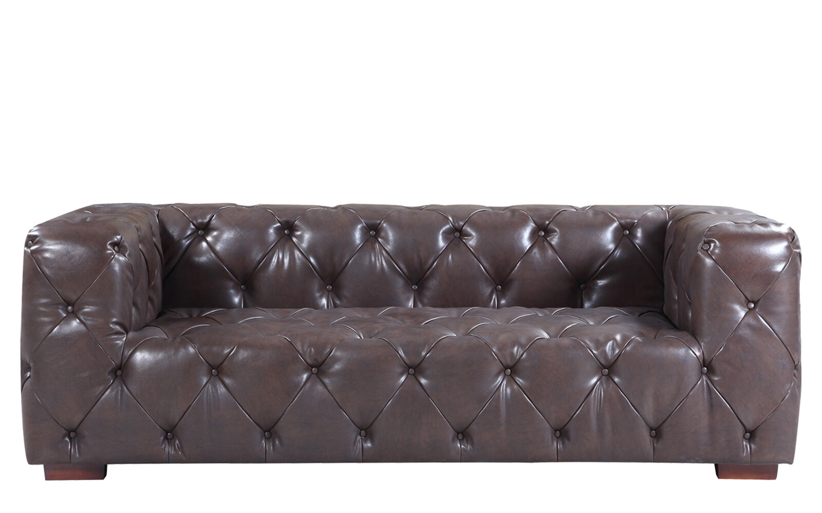 17 stories hamlin modern leather sofa reviews wayfair
