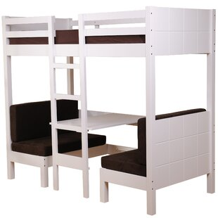 Play Single High Sleeper Bed with Desk by Just Kids