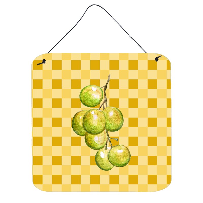 Fleur De Lis Living Grapes on Basketweave Wall Décor | Wayfair