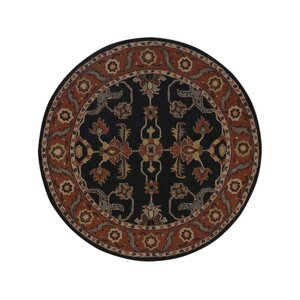 Bienville Vintage Hand-Tufted Wool Charcoal/Rust Area Rug