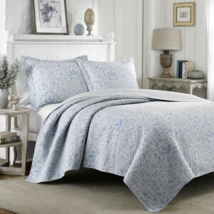 Mia 100% Cotton Reversible Quilt Set by Laura Ashley Home