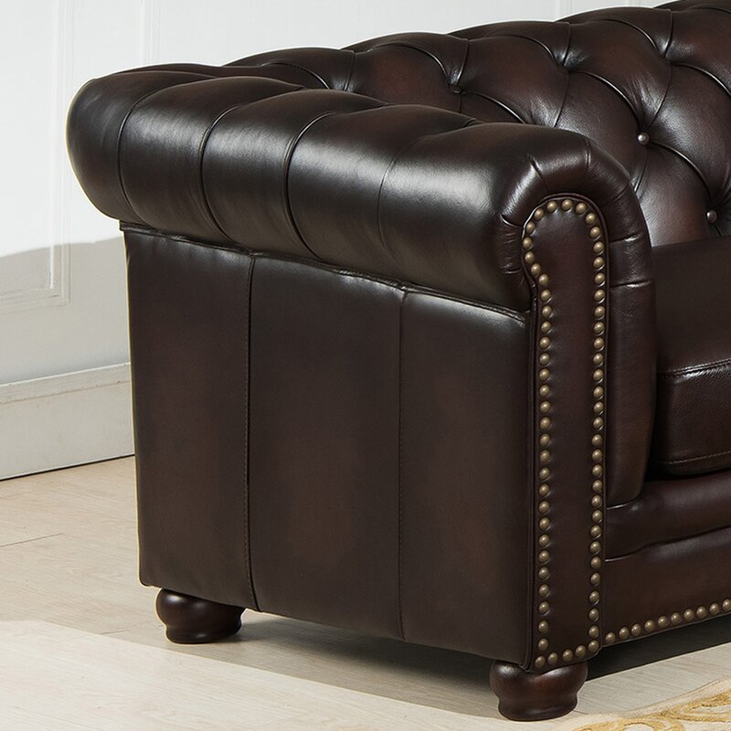 Patio Furniture Bakersfield: Amax Bakersfield Leather Modular Sectional & Reviews