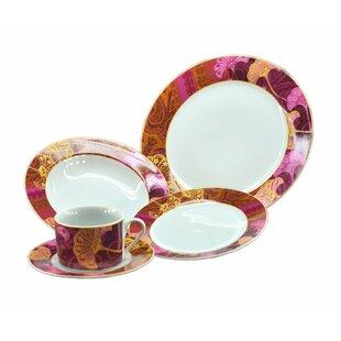 Floral 16 Piece Dinnerware Set Service for 4  sc 1 st  Wayfair & Purple Dinnerware Sets You\u0027ll Love | Wayfair