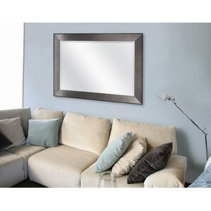 mirror for living room. Rectangle Pewter Beveled Wall Mirror Mirrors
