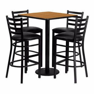 Pinckneyville 5 Piece Pub Table Set